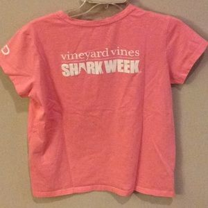 Vineyard Vines Shark Week pink tee size SM
